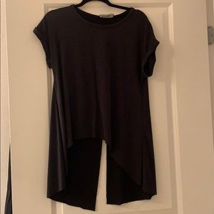 Slit back high low t shirt